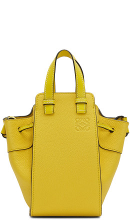 Loewe - Yellow Mini Hammock Drawstring Bag