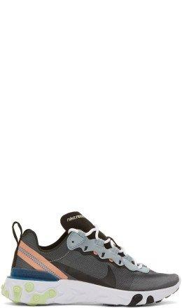 Nike - Blue React Element 55 Sneakers