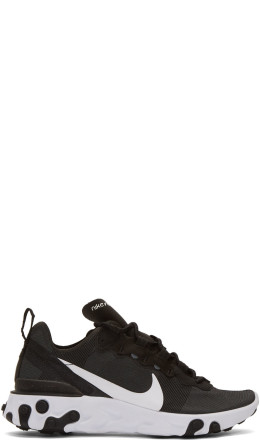 Nike - Black React Element 55 Sneakers