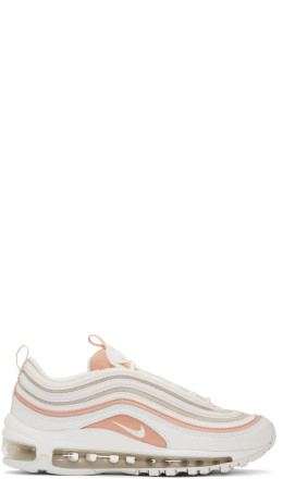 Nike - White & Beige Air Max 97 Sneakers