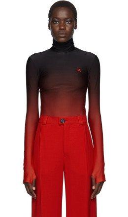 Kwaidan Editions - Black & Red Jersey Turtleneck