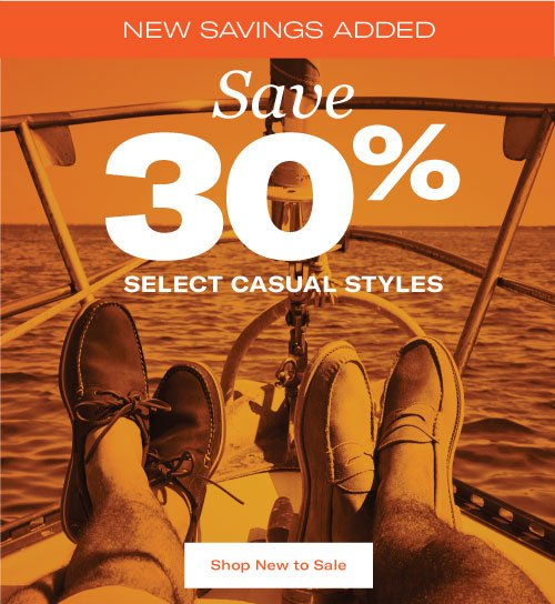 Save 30% Off Casual Styles