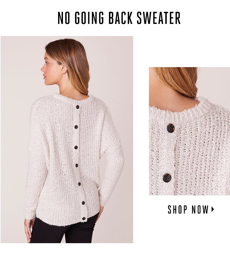 No going back sweater. Shop now.