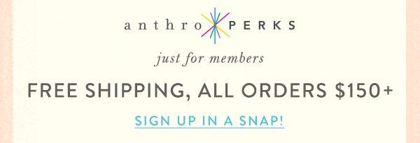 Join AnthroPerks.