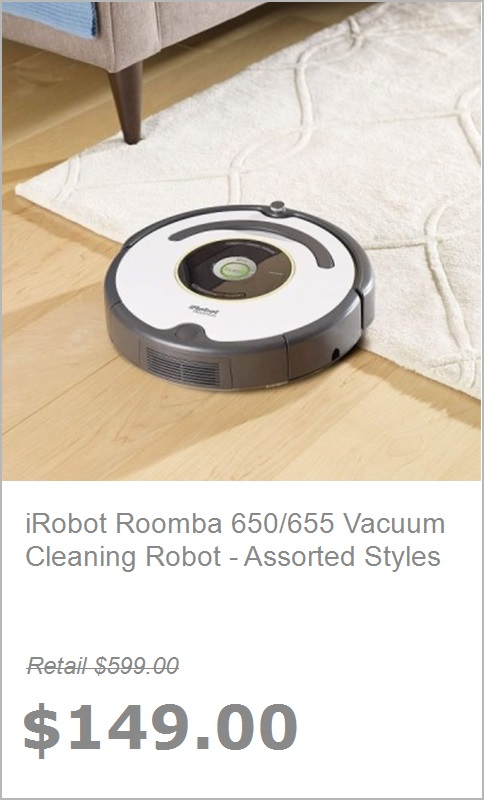 Daily Sale, Inc : $139 Apple iPad Air | $149 iRobot Cleaning