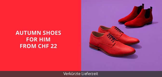 Autumn Shoes for Him from CHF 22