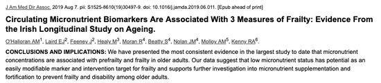 Micronutrient deficiencies cause aging