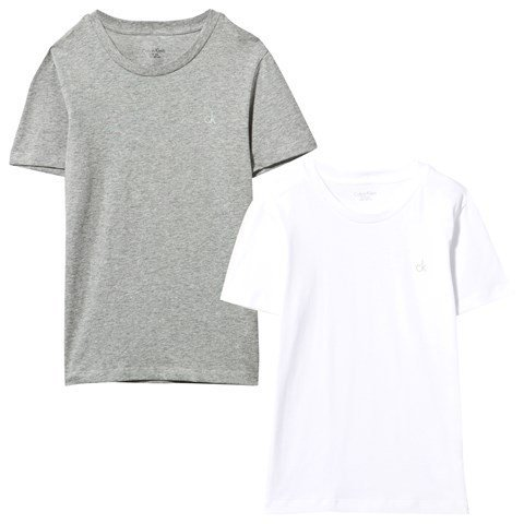 Calvin Klein Pack of 2 Grey and White Tees