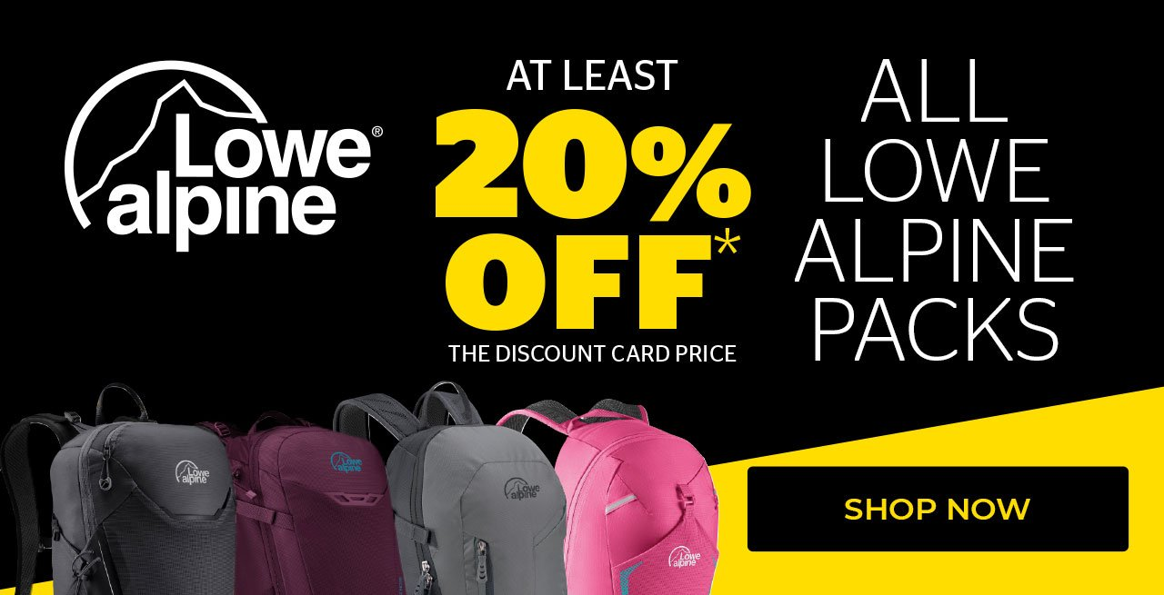 At Least 20% Off The Discount Card Price All Lowe Alpine Packs