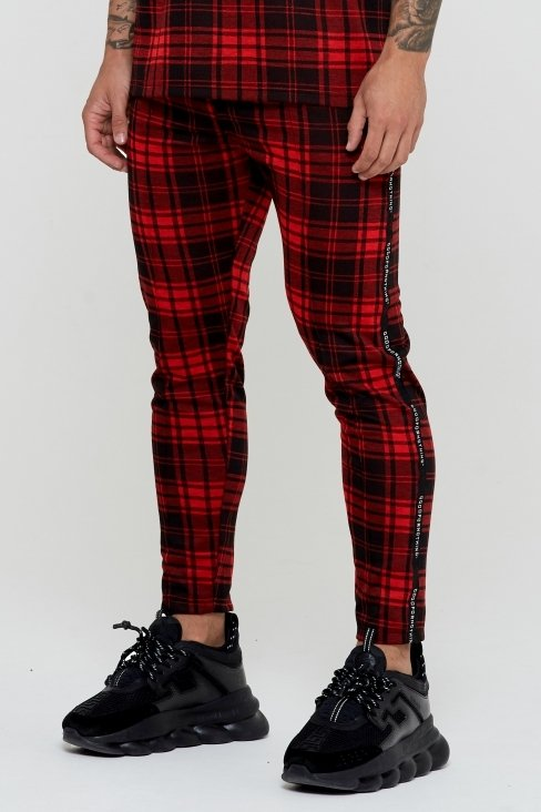 Titus Cropped Check Trouser