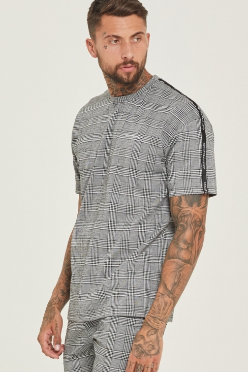 Prince of Wales Check Oversized T-Shirt