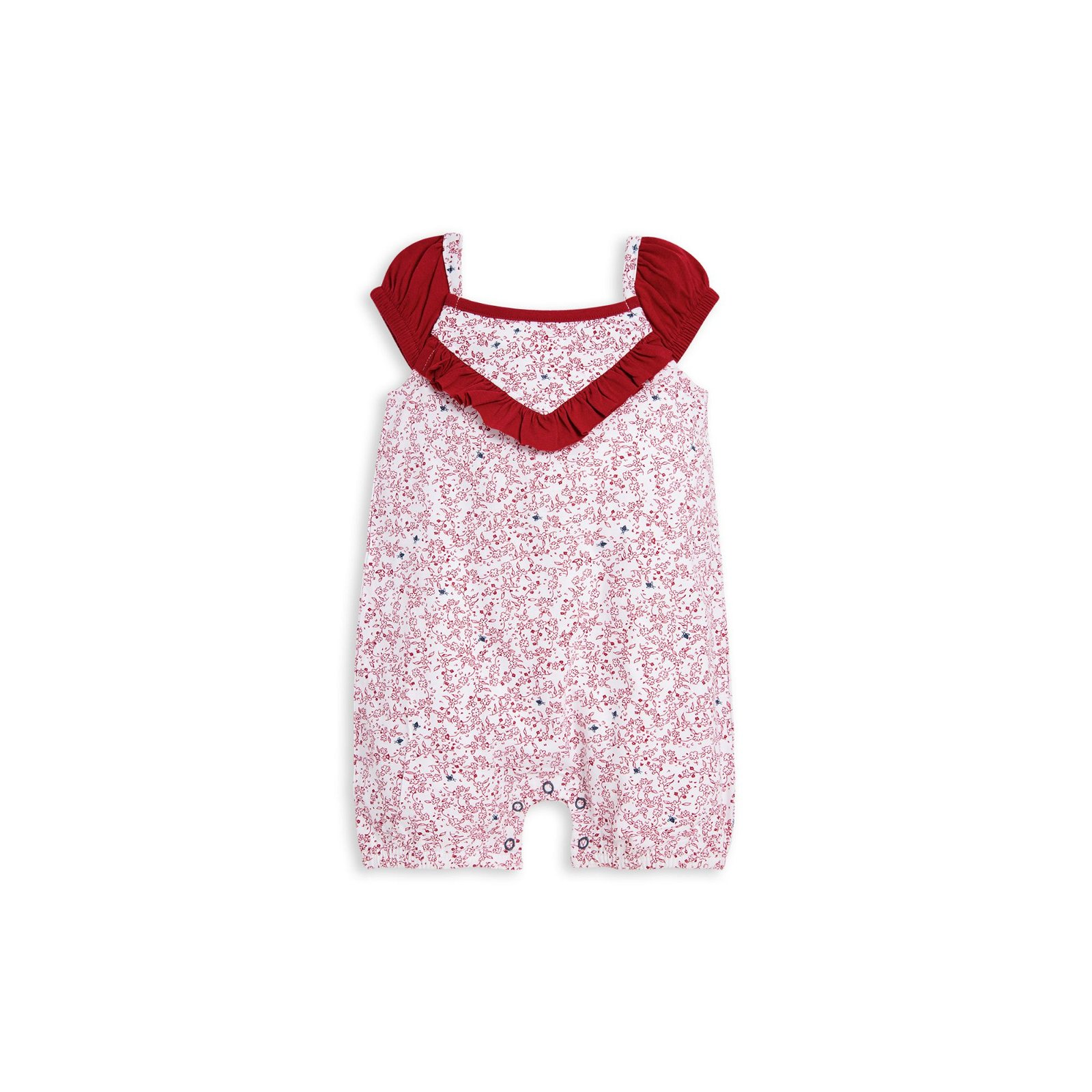 Dainty Floral Bubble Organic Baby Girl Romper