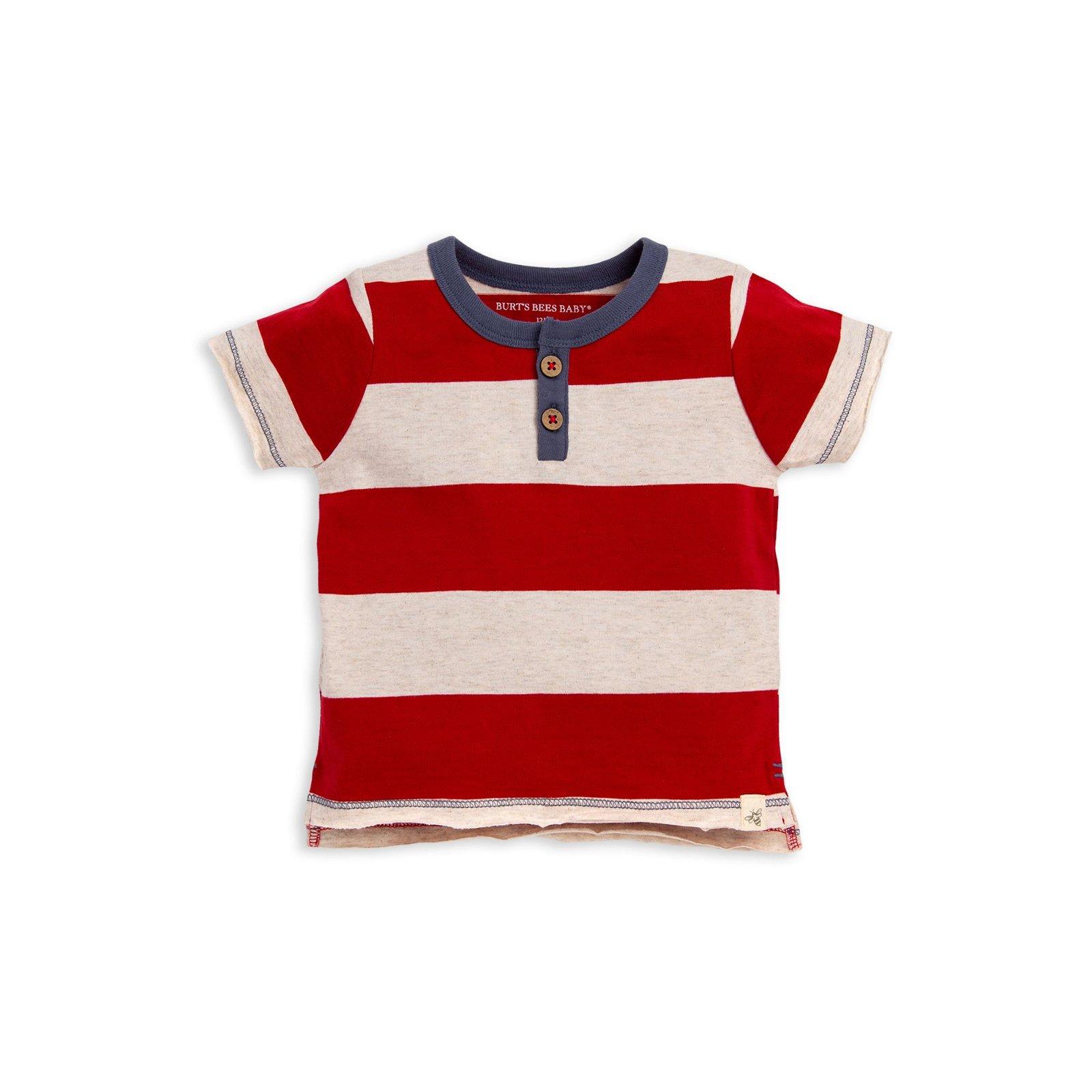 Rugby Stripe Henley Organic Baby Boy Tee