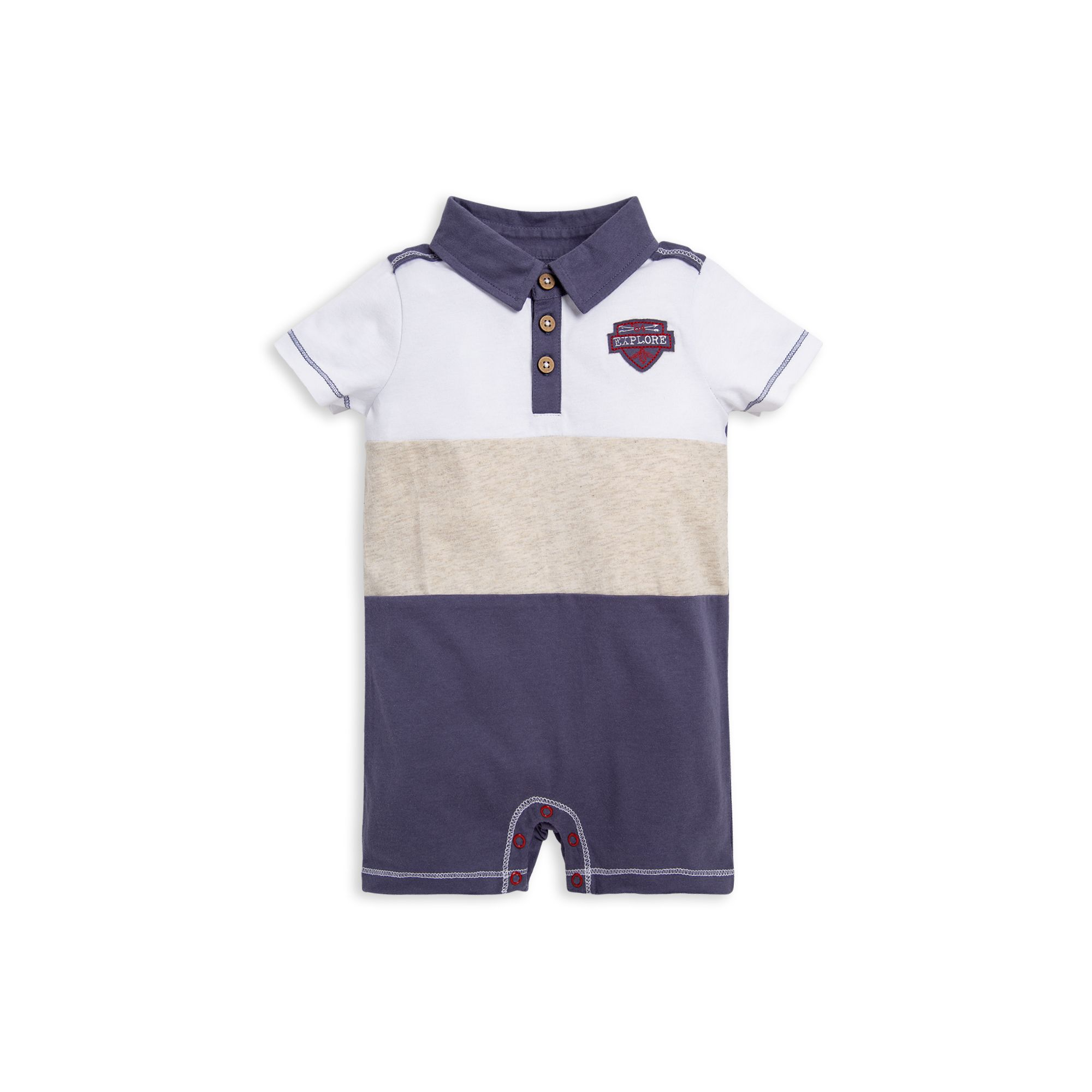 Adventure Polo Organic Baby Boy Romper