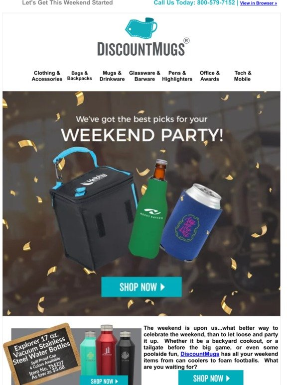 DiscountMugs com: Lookout Weekend, Here We Come!! | Milled