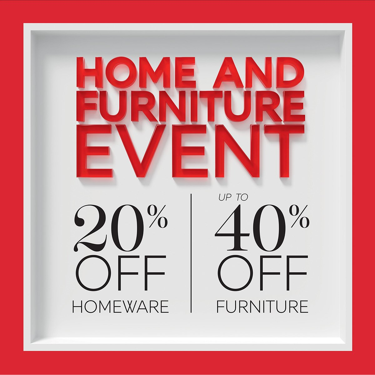 HOME AND FURNTITURE EVENT