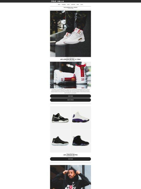 check out 8d5de 62b68 DTLR (Down Town Locker Room): Air Jordan 12 Retro 'FIBA ...