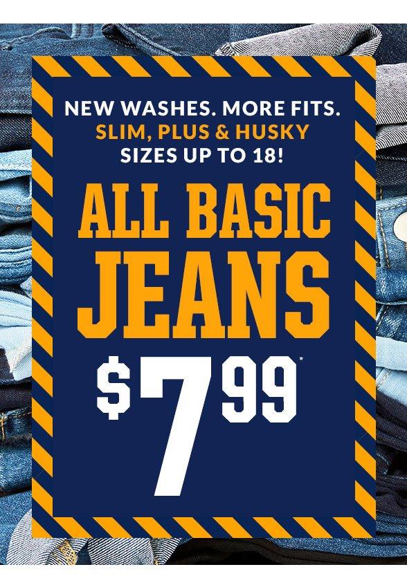 All Basic Jeans $7.99