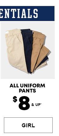 Girls Uniform Pants