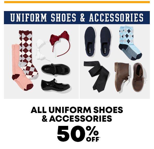 50% Off Uniform Shoes & Accessories