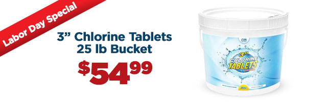 3 inch Chlorine Tablets 25 lb Bucket