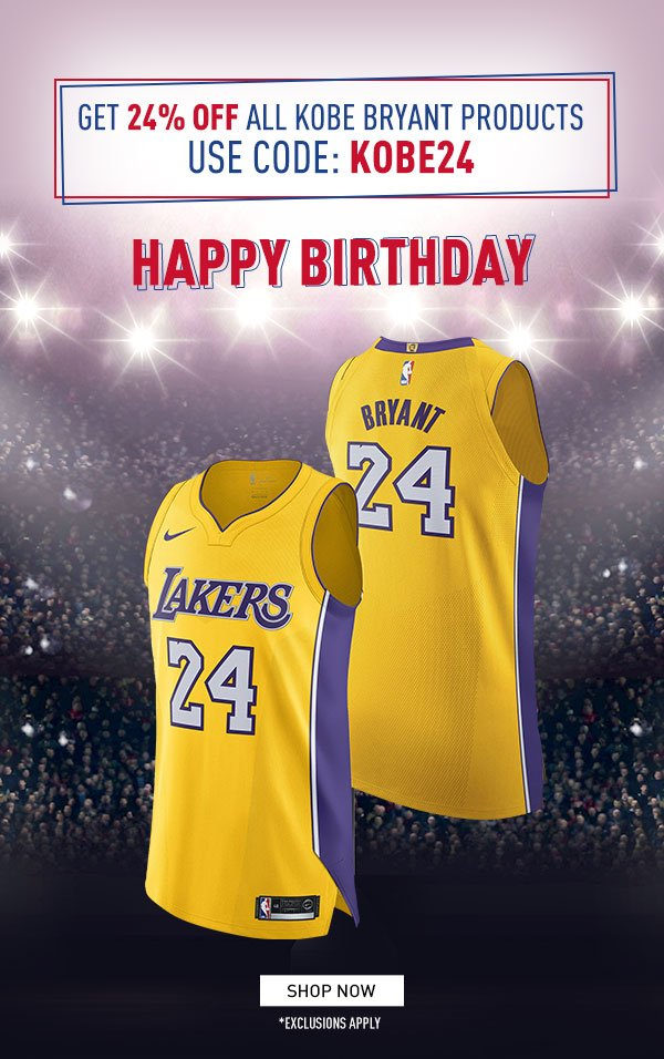 huge sale 330ce 05da6 NBA Europe Store: Get 24% off all Kobe Bryant products ...
