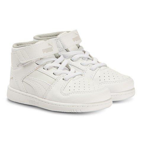 Puma White Rebound LayUp Hi-Top Sneakers