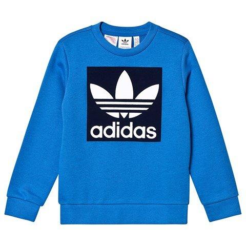 adidas Originals Blue Trefoil Logo Crew Sweatshirt