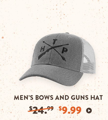 Men's Bow and Gun Hat