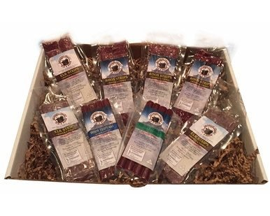 Image of Bison and Elk Jerky Snack Stick Gift Box