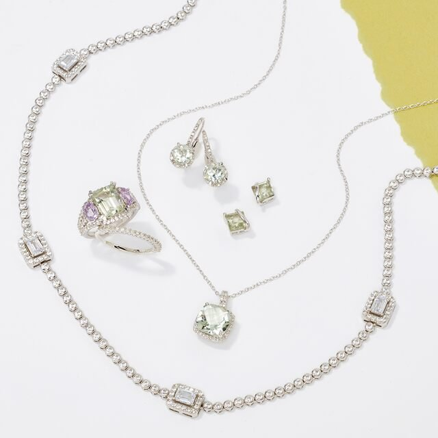 Green Amethyst Jewelry & More Under $90