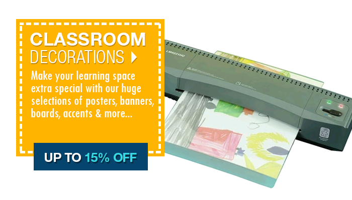 Up to 15% off Classroom Decorations