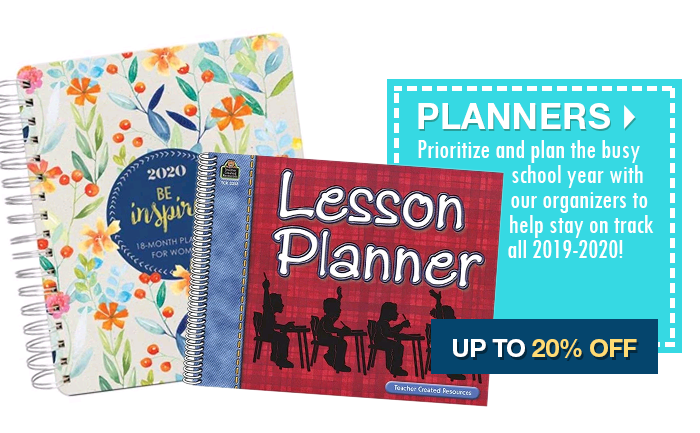Up to 20% off Planners