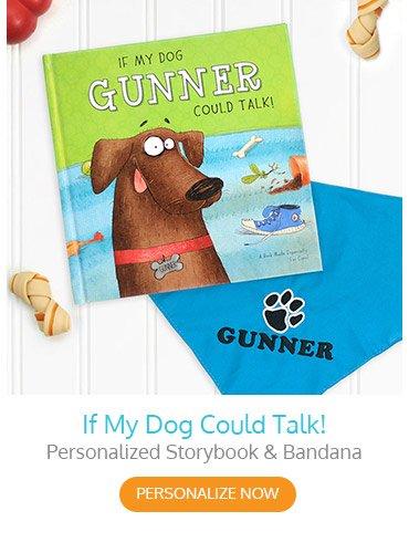 If My Dog Could Talk Personalized Storybook & Bandana