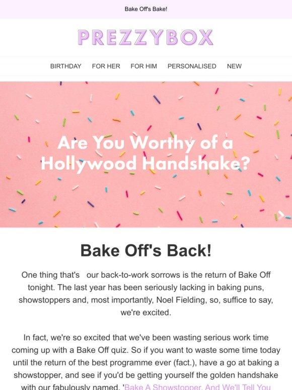 Prezzybox: Ready, Steady, Bake!   Milled
