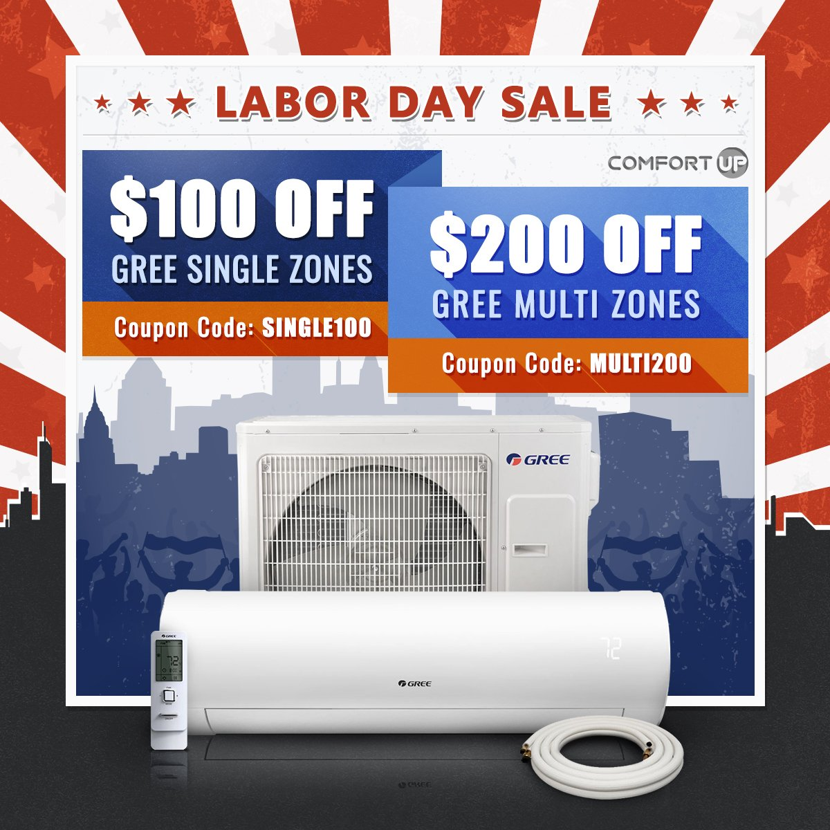 Comfortup: Your Labor Day Sale STARTS NOW!   Milled