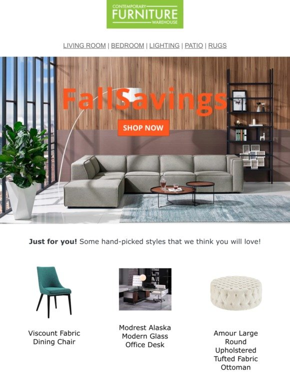 Contemporary Furniture Warehouse Email Newsletters: Shop ...
