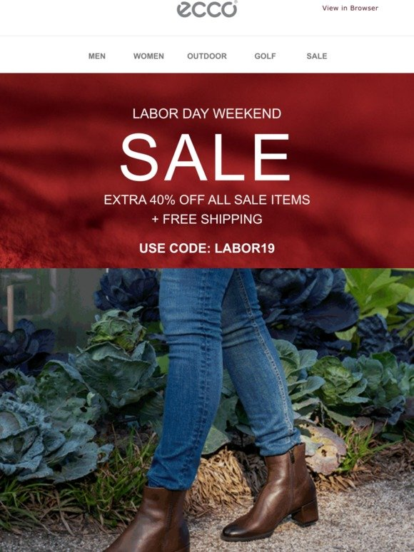 ECCO USA SHOES: Our Labor Day sale is