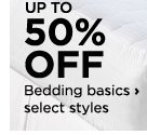 Up to 50% off Bedding basics, select styles