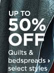 Up to 50% off Quilts & bedspreads, select styles