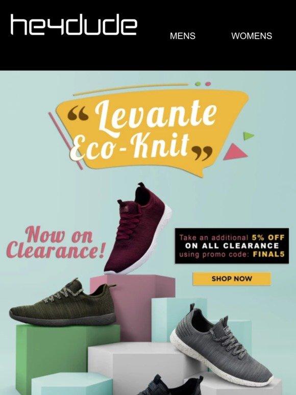 Hey Dude Shoes USA: Levante Eco-Knit