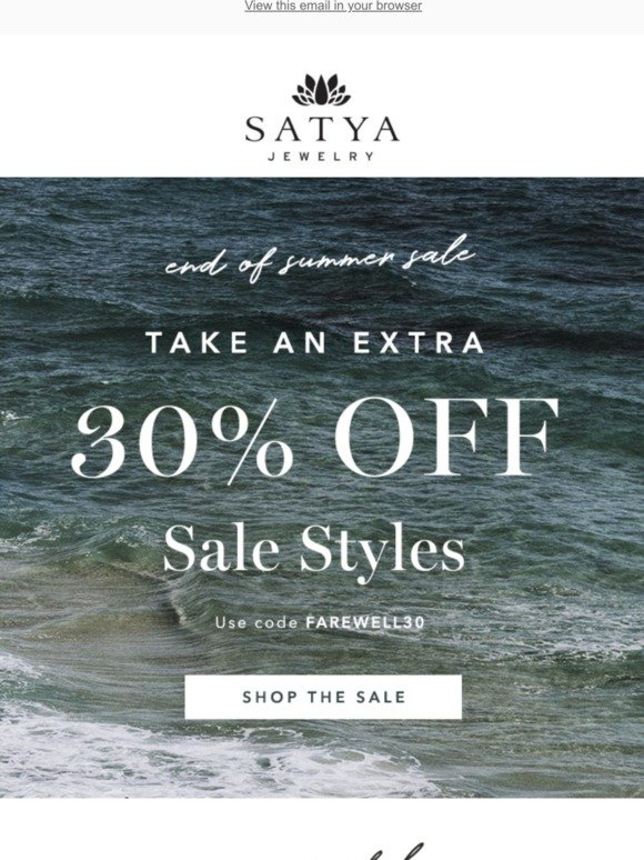 Satya Jewelry: End of Summer Sale! ☀️ | Milled