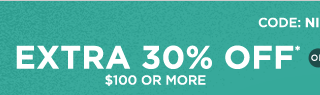 Code: NIGHTOWL, extra 30% off* $100 or more