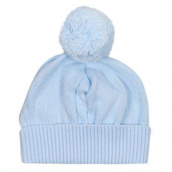 Emile Et Rose Fuzzy Bobble Hat Pale Blue