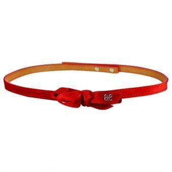 Abel & Lula Velvet Belt Red