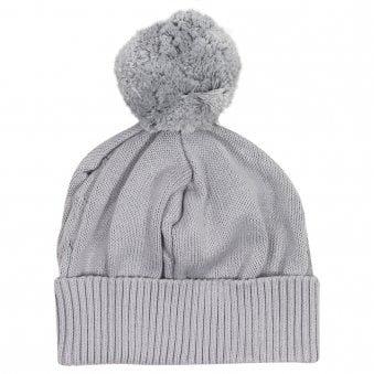Emile Et Rose Fuzzy Bobble Hat Grey