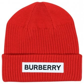 Burberry Beanie Bright Red