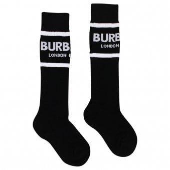 Burberry Socks Black & White