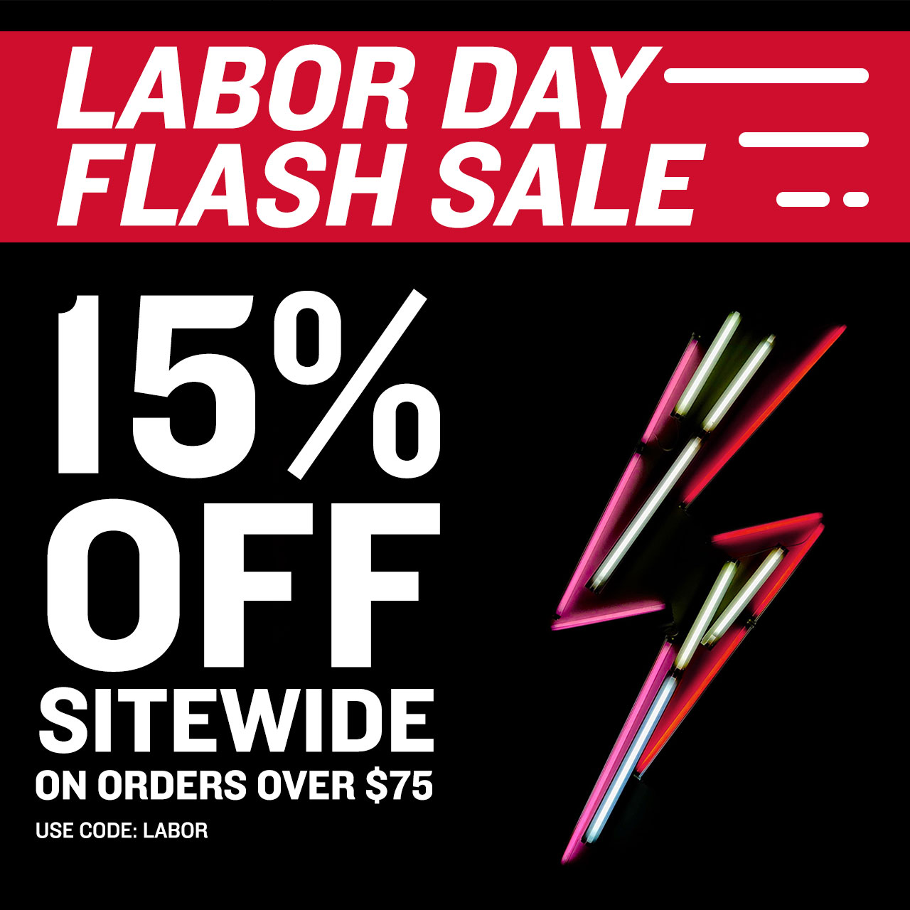 15% Off Orders Over $75