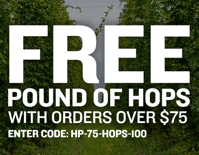 Spend $75 and Get a Free Pound of Hops